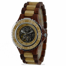 2017 japan movement watch water proof newest design bamboo wood watch
