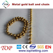 Fashion High Quality Metal Gold Ball And Chain