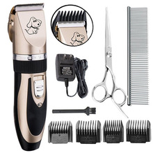 China Factory Low Noise Rechargeable CordlessProfessional Electric Animal Cat Dogs Pet Grooming Clippers Kit with Scissor Comb
