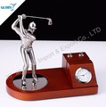 Popular golf desktop with clock for business gifts