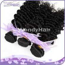 double weft 5A peruvian deep wave hair weave