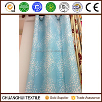New Arrival 100% polyester sky blue printed blackout fabric for curtain