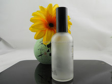 High quality 100 ml glass perfume bottle 100ml clear frosted oil bottle with sprayer