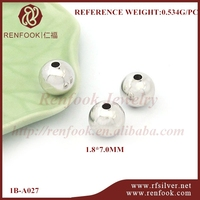 RenFook factory direct sale 925 sterling silver ball round bead findings