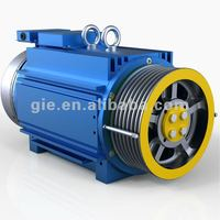 GIE 630KG,1.5m/s Permanent Magnet Synchronous Gearless Elevator Motor