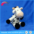 Advertising promotion gift item cow plush toys and beagle long ear dog plush toys