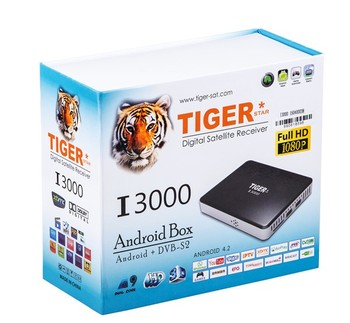 Tiger I3000 MINI conax satellite receiver software Android smart tv box with india channels iptv box