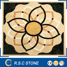 hot design flower pattern marble waterjet medallion