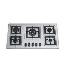 NG/LPG cast iron support Built in five large gas range cooker