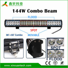 News Auto led light bar 36w 72w 144w 180w 252w 10-32V IP67 led bar 23 inch