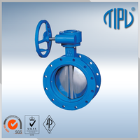 ASME B16.5 Worm Gear wafer type butterfly valve for gas