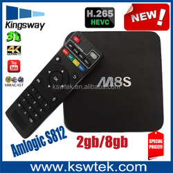 Top selling amlogic s812 quad core 1080p m8s tv box distributors canada