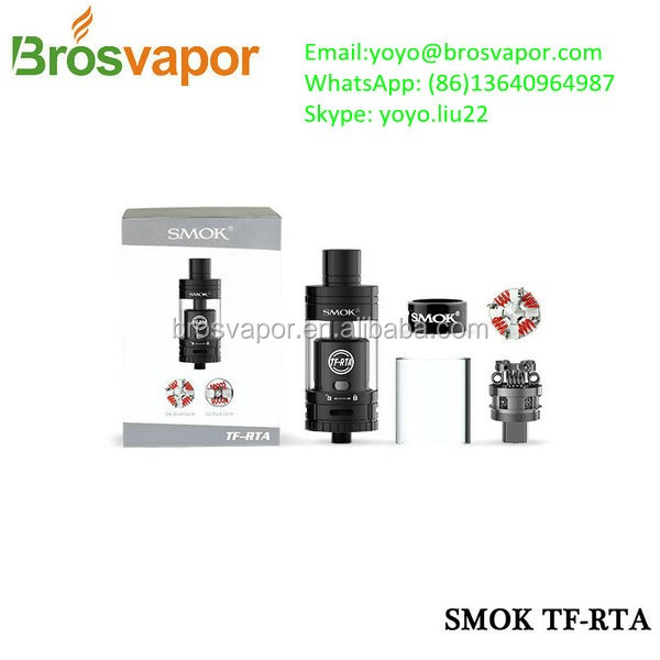 2016 Smoktech New Atomizer TF-RTA G4 Tank Stainless Steel, Black Smok TF RTA G4/G2 Tank smok stick one basic kit in stock now