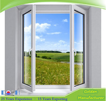 UPVC/PVC casement windows Arched Round Window for for Balcony Window Design