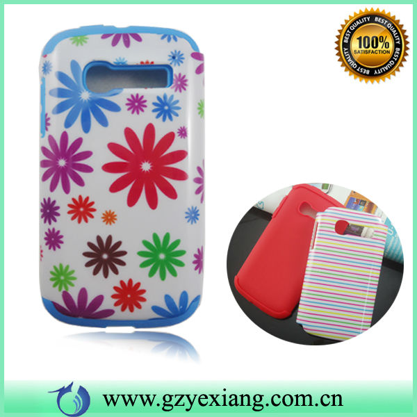 High Quality Mobile Phone Combo Hybrid Case For Alcatel C5 D5036 Back Cover