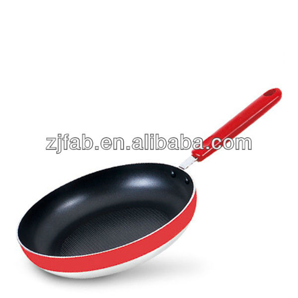 Red Polished Pizza Pan 20cm Nonstick Frying Pan