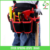 600D Functional electrician waist tool belt pouch bag with multiple pockets
