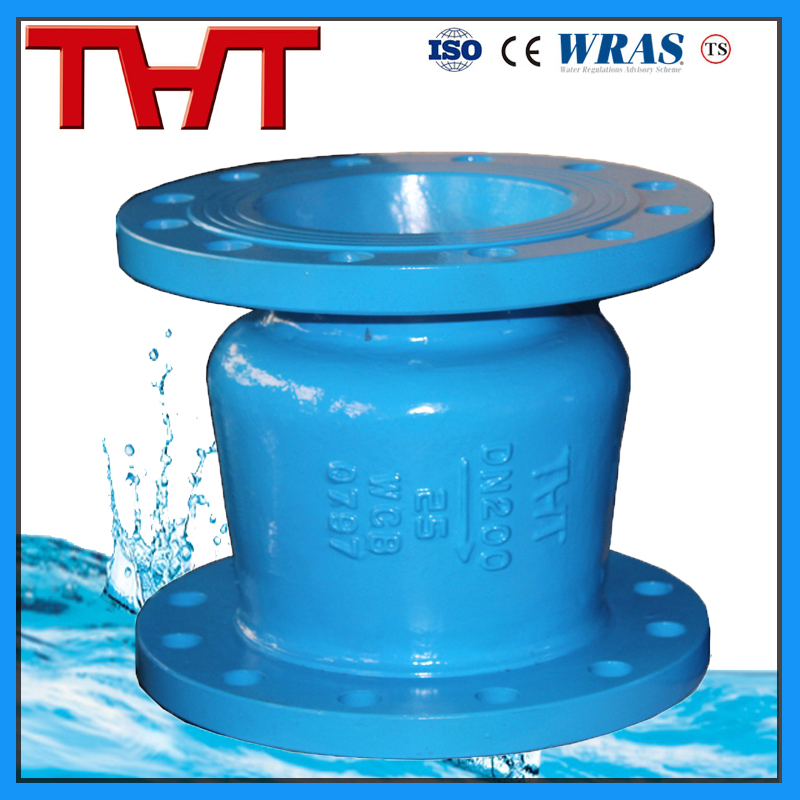 Globe type silent check valve for pump
