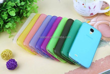 New soft gel case anti-glare cover for samsung s4 i9500, perfect fit soft silicone tpu cover case for samsung galaxy S4