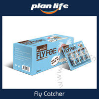 4pcs Non Toxic Pest Control Fly Papers Sticky Trap Catchers Sticky Papers