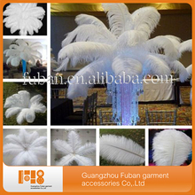 fashion natural white ostrich feather for wedding party decoration