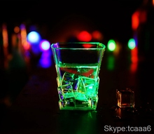 custom led flashing cup led light drinking glass for party decoration