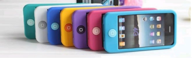 New mobile phone cover Silicone for iPhone 4/4S each in detail box