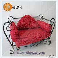 Luxury metal frame pet dog bed