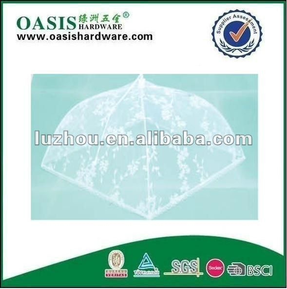 folding food cover 4 sides mesh polyester food cover Net food cover,mesh food cover,dish cover food umbrellas