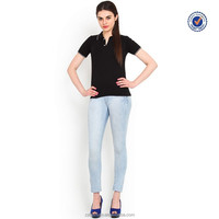 Latest design cheap polo shirts for women