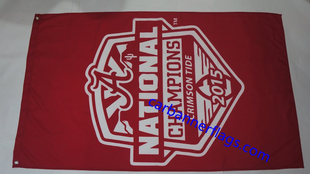 NCAA Alabama Crimson Tide flags Alabama Crimson Tide 2015 National Champions banner ncaa flag100% polyester 3x5Ft