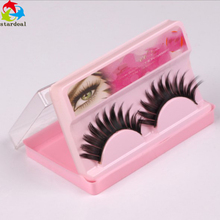 Custom Plastic Tray False Eyelash Packaging Box With Clear Window