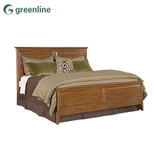 Simple carved children rustic wood / wooden double bed designs in woods