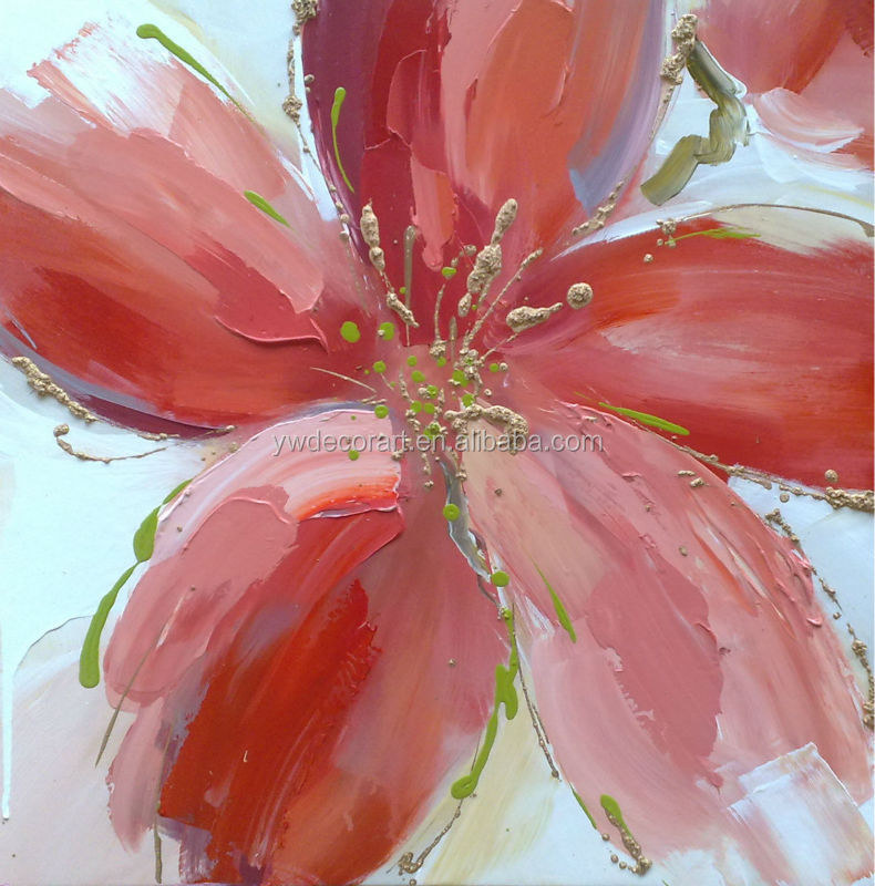 acrylic famous abstract flower paintings of canvas art