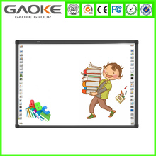 Infrared whiteboard ceramic magnetic surface four touch em interactive whiteboard