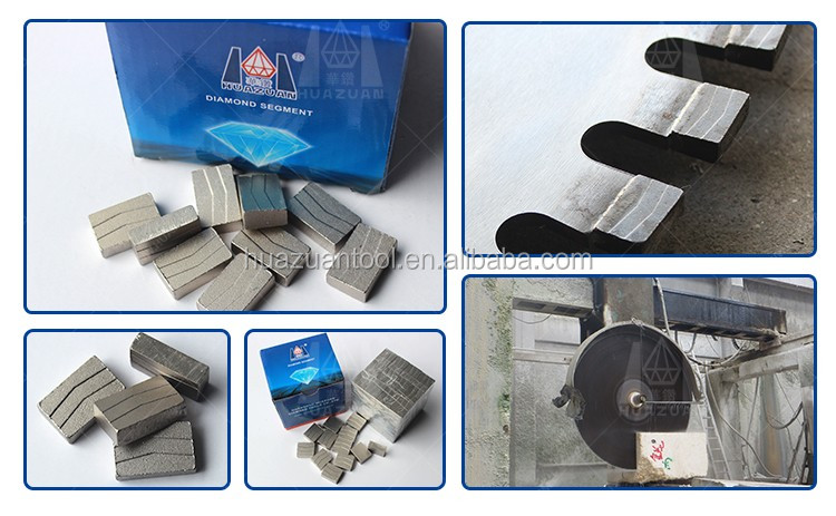 Hot Press Diamond Cutting Segment For Granite Marble Stone