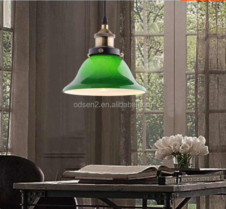 modern fancy hanging dining room antique green glass lamp