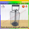 pos custom counter top store fashion rotating metal key chain display rack