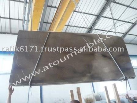 Tunisia Good Density and Resistence Big Slab Travertine Honed Chocolate Brown Marble