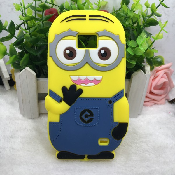 3d cartoon minions Silicone android phone case for samsung galaxy s2 i9100