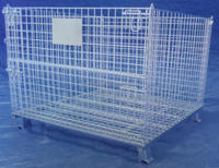 Warehouse Storage Container Wire Mesh Cage