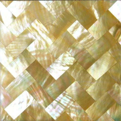 gold mother of pearl shell mosaic bathroom tile