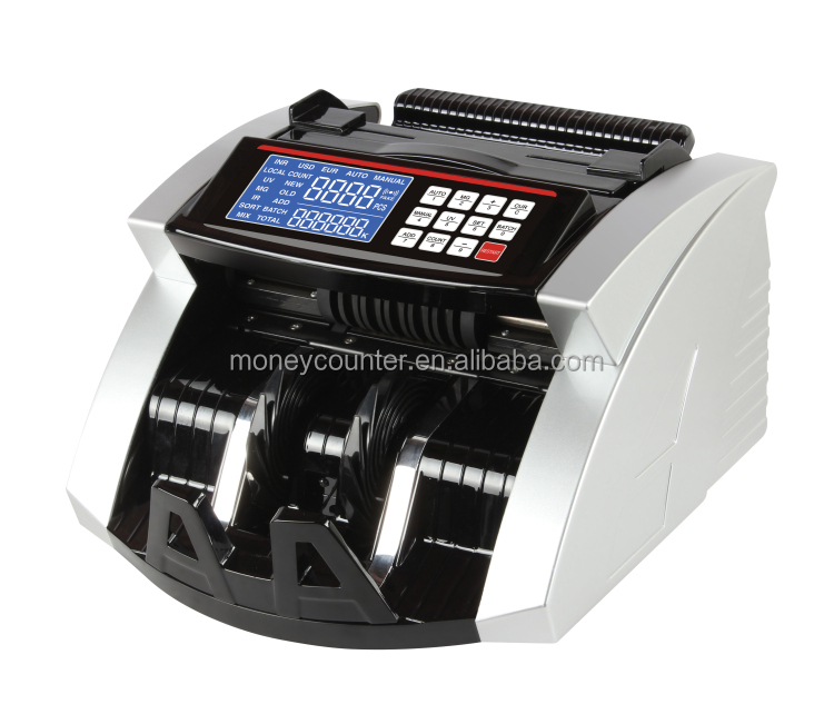 AL-6000D Bill Counting Machine With Fake Note Detector Suitable For Most Currencies