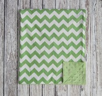 Factory small quantity wholesale chevron baby blanket, minky microfiber fleece blanket,baby blanket