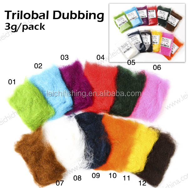 High Quality Wholesale Trilobal Dubbing Fly Tying Materials