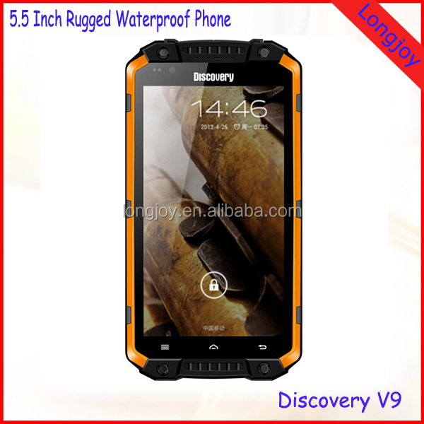 5.5 Inch Big Touch Screen IP68 Waterproof Smartphone Discovery V9 Quad Core 3G Rugged Phone
