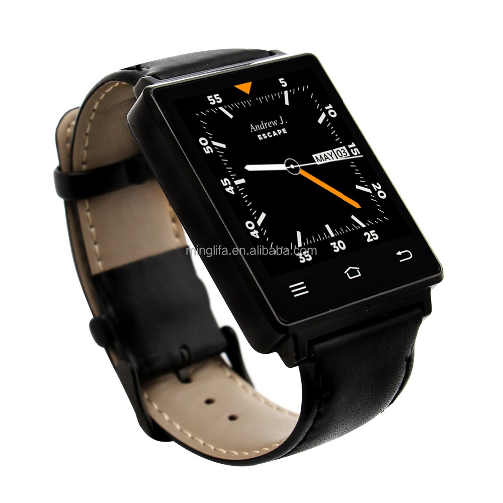 NO.1 D6 1.63 Inch smartwatch phone android 5.1 MTK6580 quad core 1.3GHz GPS WiFi bluetooth heart rate 3G smart watch