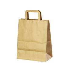 cheap recyclable varnished supermarket shopping <strong>paper</strong> bag with handles