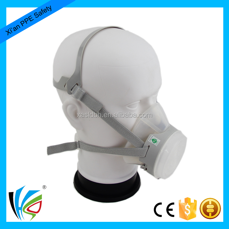 half face double chemical filter respirator gas mask for sale