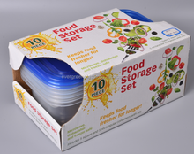 Disposable food storage container color box 10pc
